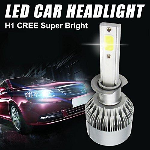 Preisvergleich Produktbild iRegro Auto COB Scheinwerfer Integration einstecken-und-verwenden Conversion Kit -H1, 110W 9200Lm 6000K kalt wei CREE COB Lampe - 3 Jahre Garantie (2 St¨¹ck)