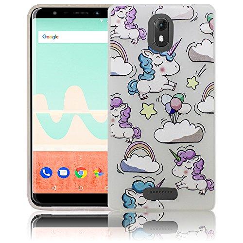 Wiko View GO Einhorn Baby süße Handy-Hülle Silikon - staubdicht, stoßfest & leicht - Smartphone-Case thematys
