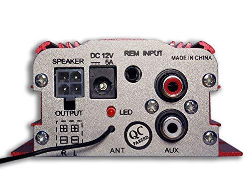 Stereo-Verstärker 500W 2Kanal mit Fernbedienung 12V MP3USB Audio Speaker (Planet Audio-verstärker)