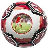 ballpix Personalisierter Fußball, Größe 5, fertigen mit jedem möglichem Foto oder Bild, Rot