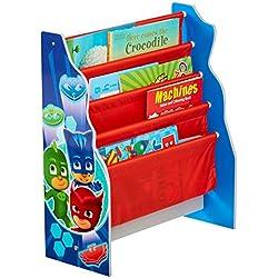 Hello Home PJ máscaras Kids Sling–Estantería–Dormitorio Libro de Almacenamiento, Madera