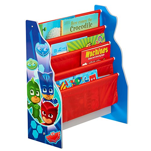 HelloHome Pj Masks Kids Sling Bookcase - Bedroom Book Storage, Wood, Multicoloured Best Price and Cheapest