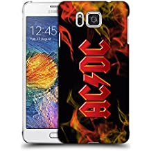 Official AC/DC ACDC Fire Logo Hard Back Case for Samsung Galaxy Alpha