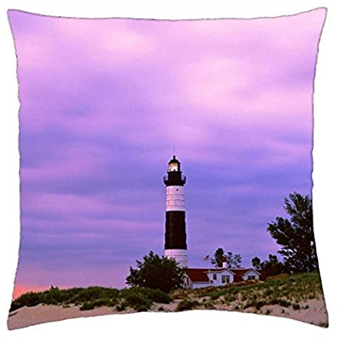 michigan big sable point lighthouse - Throw Pillow Cover Case (16