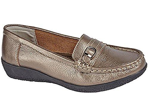 Foster Footwear , Herren Mokkasins Zinnfarben