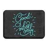 Good Vibes Only Fußmatte / Türvorleger mit Neon-Aufschrift, cool, modern, waschbar