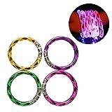 TOYMYTOY 4Pcs Glühen blinkende LED Armbänder mit Gewinde Muster für Party Gefälligkeiten (Farben in zufälliger)