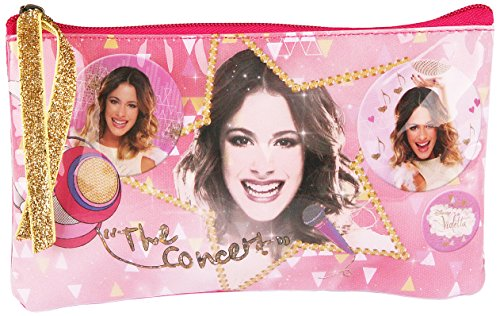 Violetta Trousse à Maquillage Concert par Disney, Multicolore (Fraise/Or)