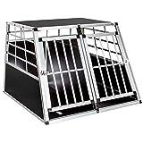 Trasportino Box Cofano Auto Cuccia per Cani Gatti Animali in Alluminio Doppia con divisorio