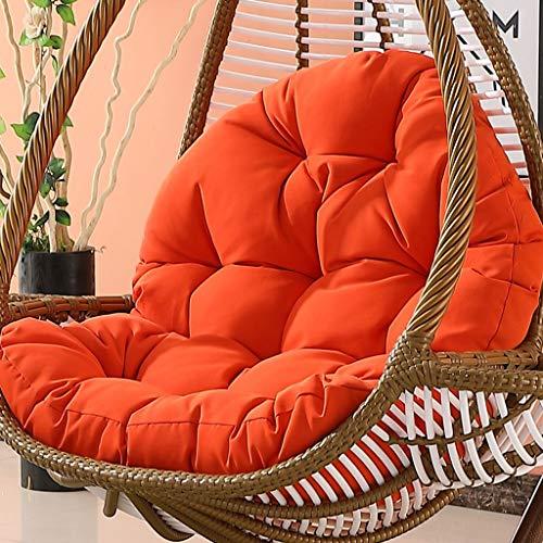 Gepolsterte Schaukel (GOUSED Eier Hängen Hängematte Gepolsterter Stuhl Kissen, Schaukel Sitz Kissen Dicker Neststuhl Rückenlehne Mit Kissen Ohne Halterung-Sonnenschein orange)