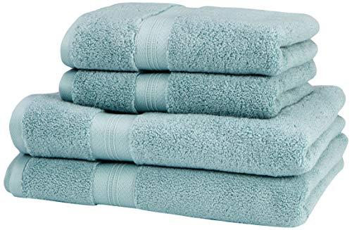 """Pinzon Handtücher-Set, Pima-Baumwolle (2 Badetücher + 2 Handtücher) - Farbton \""""Spa Blue\"""""""