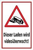 Video-Überwachung Aufkleber - Laden wird videoüberwacht - 15x10cm – S00349-027-B – Kamera-Überwachung +++ in 20 Varianten erhältlich