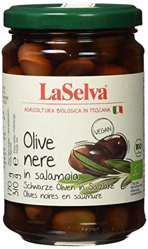 La Selva Dunkle Bio-Oliven in Salzlake, 6er Pack (6 x 310 g)