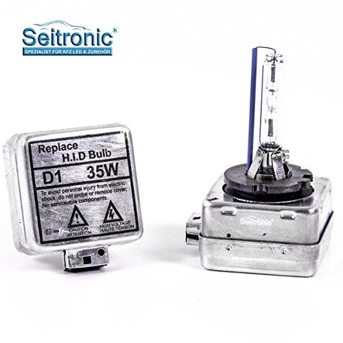 Preisvergleich Produktbild Seitronic® 2X D1S Xenon Brenner 4300K mit E4-Prüfzeichen, D1S Xenon Birne, D1S Xenon Lampe, D1S Brenner, 2x D1S XENON BRENNER Ersatzlampe Birne