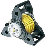 GAO 25M TRI-PRO 6897 - Carrete alargador de cable con 4 enchufes, multicolor