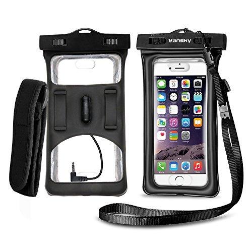 Droid 4 Snap (Wasserfeste Handyhülle, Vansky® schwimmfähige Hülle Trockenbeutel mit Armbinde und Audio-Buchse für iPhone und Android Geräte, umweltfreundliche TPU-Konstruktion und IPX8 zertifiziert auf 100 Fuß)