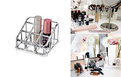The Decor Hut Decor Hütte 9Slot Lip Stick Organizer, Acryl Make-up Supplies Kosmetische Display Organizer.
