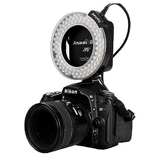 Easy Go Shopping AHL-HN100 Höherer CRI 95 + Value Amaran Halo-LED-Ringblitzlicht kompatibles Nikon Kamerazubehör