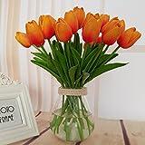 PANGUN Einzel-Zweig Mini Tulip Künstliche Blumen Fake Flower Für Zu Hause Hochzeit Dekoration-Orange
