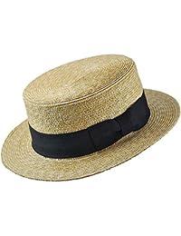 Chapeau de Canotier en Paille avec Ruban noir JAXON & JAMES