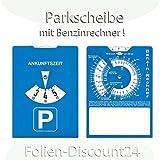 Europa Parkscheibe Parkuhr mit Benzinrechner