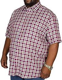 5f7cc9c37ba Cotton Valley Big Mens Twill Check Short Sleeve Shirt Brown 2XL 3XL 4XL 5XL  6XL 7XL