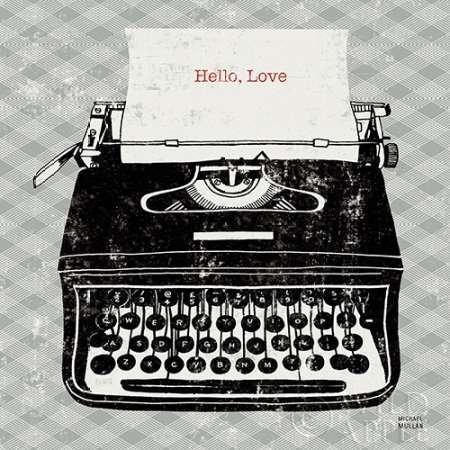 feelingathome-Impresi—n-artistica-Vintage-Typewriter-Analog-cm28x28-