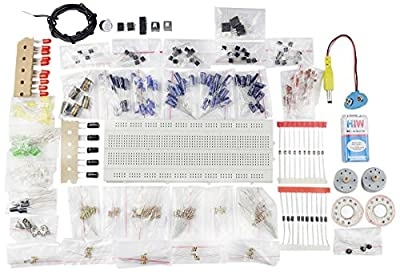 Generic Electronic Components Project Kit or Breadboard, Capacitor, Resistor, LED, Switch (Comes in a box)