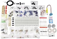 DECORVAIZ Electronic Components Project Kit or Breadboard, Capacitor, Resistor, LED, Switch (Comes in a Box).