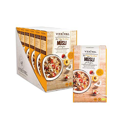 Verival Bio Kokos-Marille Müsli | 6 x 325g | vegan und glutenfrei | ohne Palmöl | handgefertigt in Tirol -