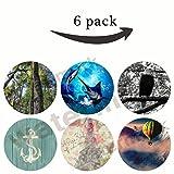 Monturas multifunción y soportes Pop Grip Socket para Smartphone Regalo (R094) un vuelo de fantasía, playa de madera de anclaje, águila, brillo de amor, marlina con burbujas, árboles de selva