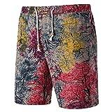 XXYsm Herren Sommer Sport Shorts Freizeit Lose Gedruckt Bermuda Strand Shorts
