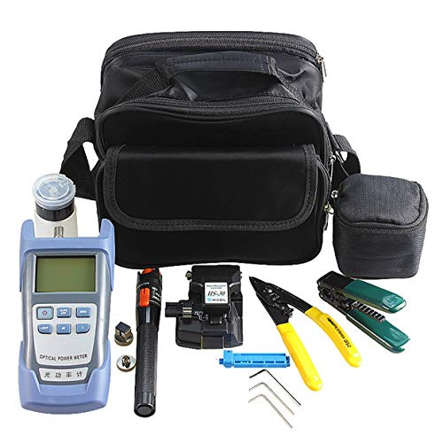 Comomingo Fiber Optic FTTH Tool Kit mit HS-30 Fiber Cleaver Optischer Leistungsmesser (Mehrfarbig gemischt) - 1000 Fiber Optic