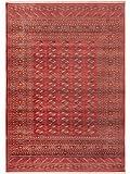Benuta Teppich Vintage Safira Rot 133x185 cm - Vintage Teppich im Used-Look