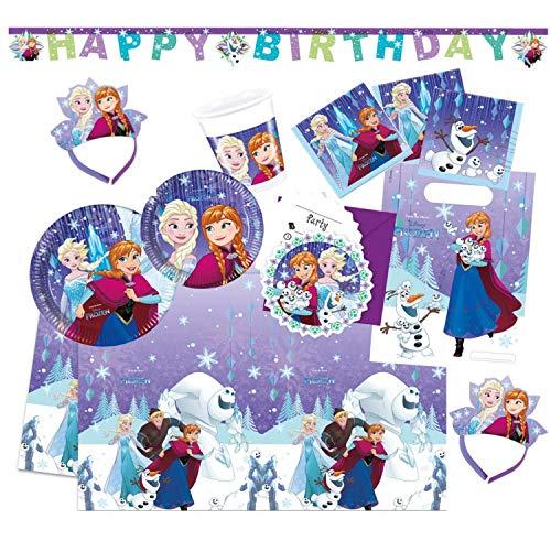 Die Eiskönigin Partyset Disney Frozen Snowflakes, XXL ()