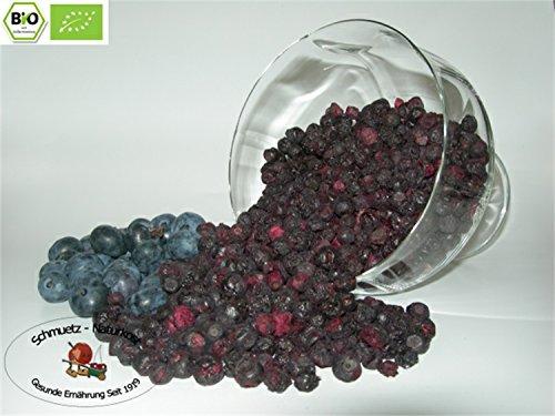 Gefriergetrocknete bio Heidelbeeren (Blaubeeren) 100g von Schmütz-Naturkost, Bio Trockenfrüchte