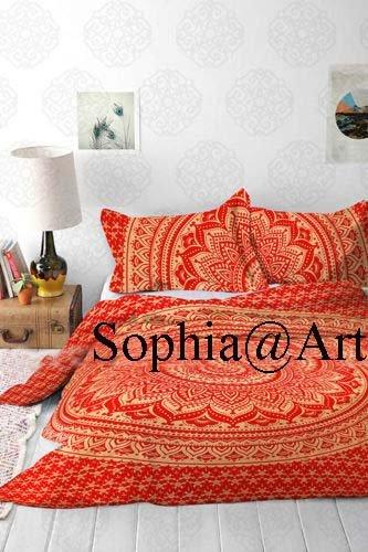 dala Bettbezug Doona Decke Steppdecke Tagesdecke Bettwäsche Tröster Cover von Sophia Art, baumwolle, rot, Queen (Tröster Cover Queen Baumwolle)