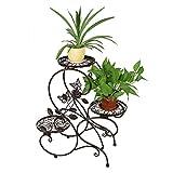 HLC 3 Töpf Metall Blumenständer Blumentreppe Pflanzer,S-förmig Bronze