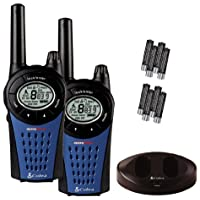 Cobra MT 975-2VP PMR446 Walkie Talkie Radio Twin Pack With Charger And Batteries - Black/Blue