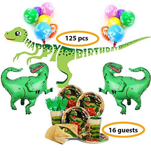 Bea's Party Dinosaurier party set deko geburtstagsdekoration dinosaurier dino party geburtstag deko dinosaurier 16 kinder Gartenparty dekoration dinosaurier Geburtstagsfeier geburtstagdeko dinosaurier