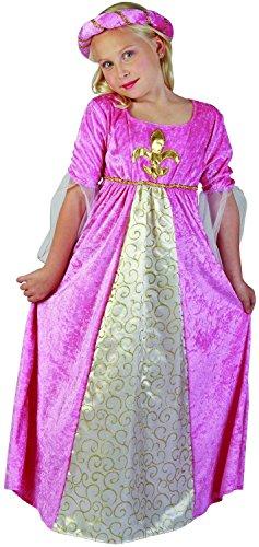 Generique - Mittelalterliches Prinzessinnen-Kostüm für Mädchen 110/116 (4-6 Jahre)