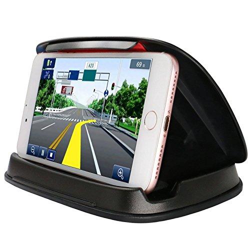 Supporto per telefono per samsung galaxy s8, supporto per gps universale per cruscotto dell'automobile per iphone 8/x/ 7/7 plus /6/6plus e altri smartphone e navigazione 3.0-6.8 pollici - nero