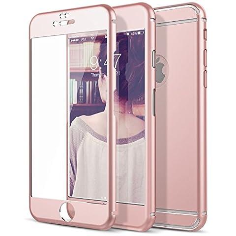 iPhone 6 Screen Protector, Étui Coque de Protection iPhone 6S, CE-Link Avant et Arriere Métal Protecteur D'écran en Verre Trempé Pour Apple iPhone 6 6S 4.7