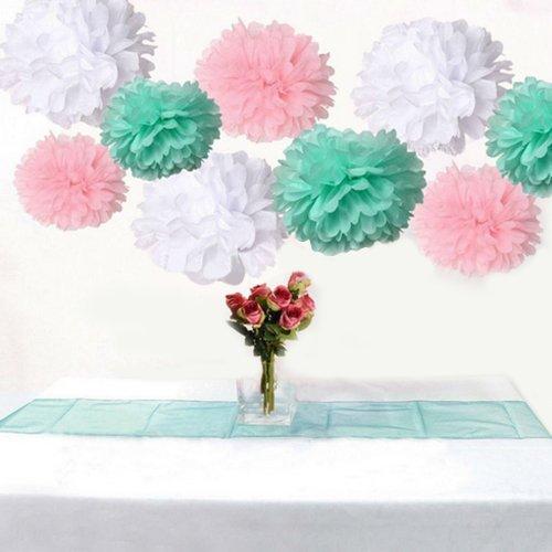 9pcs tissue paper pom poms for wedding christmas u0026 party decorations vintage lace