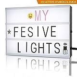 light box,cinematic lightbox /personnaliser a4 film lumiere boite/ Cinéma Boîte à lettres et symboles / emoji par FSC