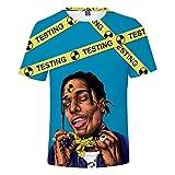 Photo de MuBoZhiNengKe ASAP Rocky T-Shirt décontracté Sport Impression 3D T-Shirt à Manches Courtes pour Adulte et Enfant Coupe ajustée - - Medium par MuBoZhiNengKe