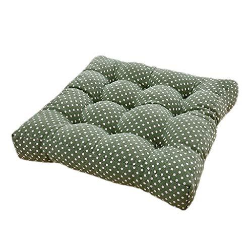 Cuscino del sedile Cuscino Comodo Cuscino per Sedia da Ufficio in Cotone per Bambini Supporto Lombare Quattro Stagioni Disponibile Verde (Dimensioni : 40 * 40 * 12cm)