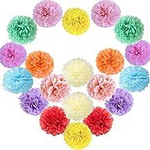 Sunbeauty 20 Piezas Pom Poms Bola de Papel Decoraciones de Baby Shower Boda Fiesta Santa Semana