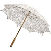 Sombrilla de encaje KAYI Parasoles románticos para bordar paraguas