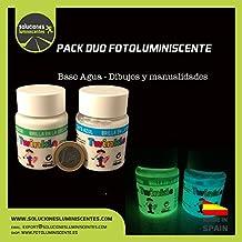 Pack duo fotoluminiscente base agua
